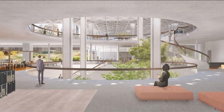Eerste plannen voor transformatie Axa-gebouw bekend