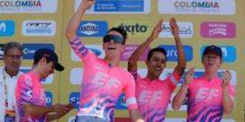 Deceuninck - Quick-Step grijpt naast zege in ploegentijdrit Ronde van Colombia, EF Education First blaast iedereen weg