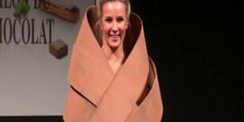 Chocolade en mode komen samen op de catwalk in Brussel