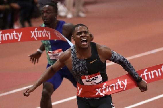 """Sprintsensatie Christian Coleman voelt zich """"vrij goed"""" en verbetert bijna eigen wereldrecord op 60m sprint"""