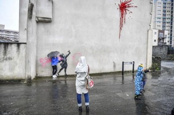 Nieuw werk van Banksy gevandaliseerd