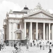 Gerenoveerde Brusselse Beurs wordt ontmoetingsplek met skybar