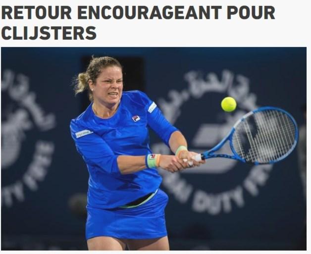 Internationale pers vol lof over Kim Clijsters: 'Ze schitterde bij haar comeback'