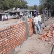 India bouwt muur om 'sloppenwijken te verbergen' voor bezoek Trump