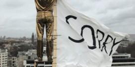 Studenten hangen 'sorry' aan werk van Jan Fabre