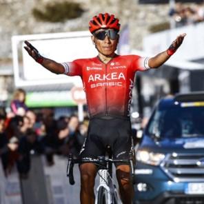 Nairo Quintana overvleugelt tegenstand op Col d'Èze in Ronde van de Haut-Var
