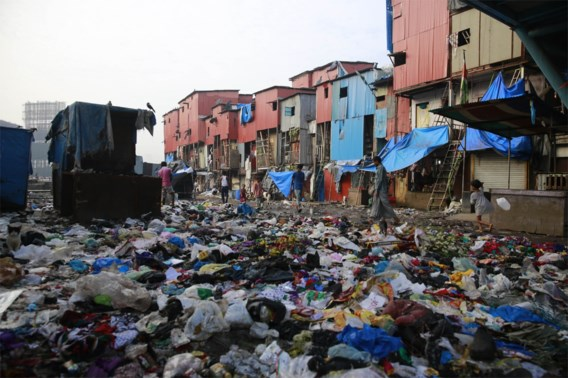 Afval in ruil voor maaltijd in India