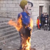 Ophef om in brand gestoken pop van homokoppel in Kroatië