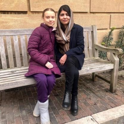 Thunberg ontmoet 'rolmodel' en medeactiviste Yousafzai