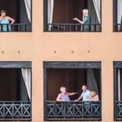 'We zitten hier op een terras in de zon in een prima hotel'