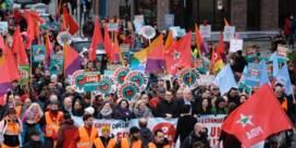 Enkele duizenden betogers voor 'Grote Colère' van PVDA