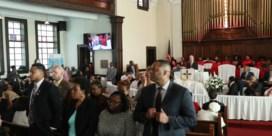 Protest tegen Bloomberg bij herdenking 'Bloody Sunday' in kerk