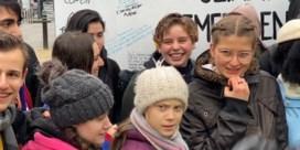 Greta Thunberg protesteert met vijftigtal Europese klimaatjongeren in Brussel