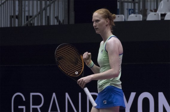 Alison Van Uytvanck in kwartfinales WTA Lyon, wel out in dubbel met vriendin Greet Minnen