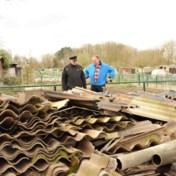 Tuiniers verwijderen 12 tot 15 ton asbest