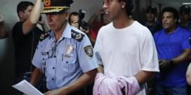 Ronaldinho scoort alleen nog achter tralies