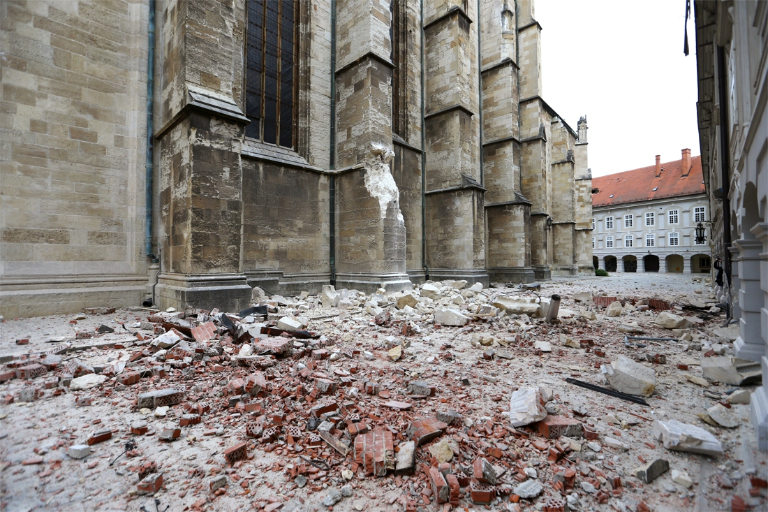 Tientallen gewonden na zware aardbeving in Zagreb