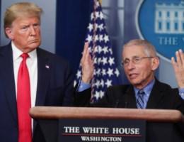 Hoe de Amerikaanse Marc Van Ranst Trumps schade probeert te beperken