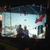 Italianen toveren gevels om tot cinemaschermen