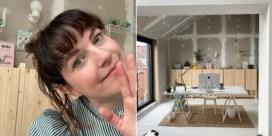 De thuiswerkplek van Eva Mouton: 'Op een echte bureaustoel voelde ik me te veel een meneer'
