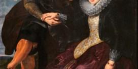 'Portret van de kunstenaar en zijn vrouw in een prieel van kamperfoelie'(1609)