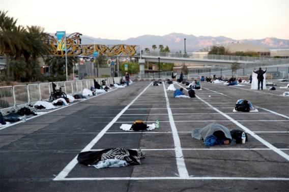 Ophef over parking waar daklozen worden opgevangen