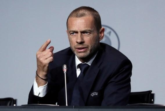 """UEFA weet niet wanneer er opnieuw gevoetbald wordt, maar: """"We hebben een plan A, B of C"""""""