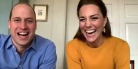 Prins William en Kate verrassen schoolgaande kinderen met videocall