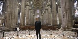 Andrea Bocelli zingt solo in lege dom van Milaan
