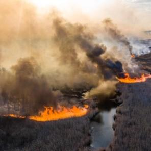 Bosbranden in Tsjernobyl zwakken geleidelijk af