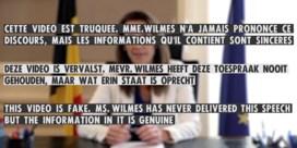 Klimaatactivisten manipuleren speech Wilmès