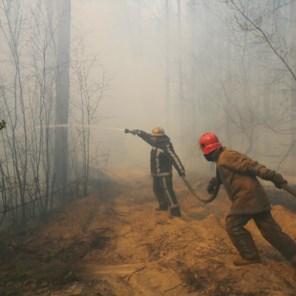 Regen doet Tsjernobyl opgelucht ademhalen