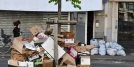 Antwerpse straten blijven vol afval staan