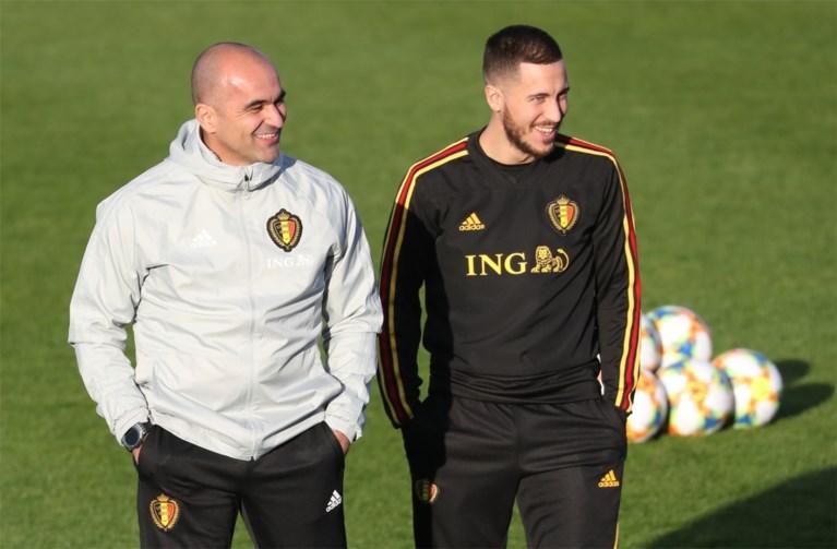 """Roberto Martinez heeft goed nieuws over Eden Hazard, nieuw contract is nog niet in orde: """"Ik blijf werken alsof ik er bij ben op het EK"""""""