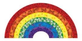 Download eens een regenboog van Damien Hirst