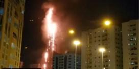 Brand in 190 meter hoge wolkenkrabber in Verenigde Arabische Emiraten