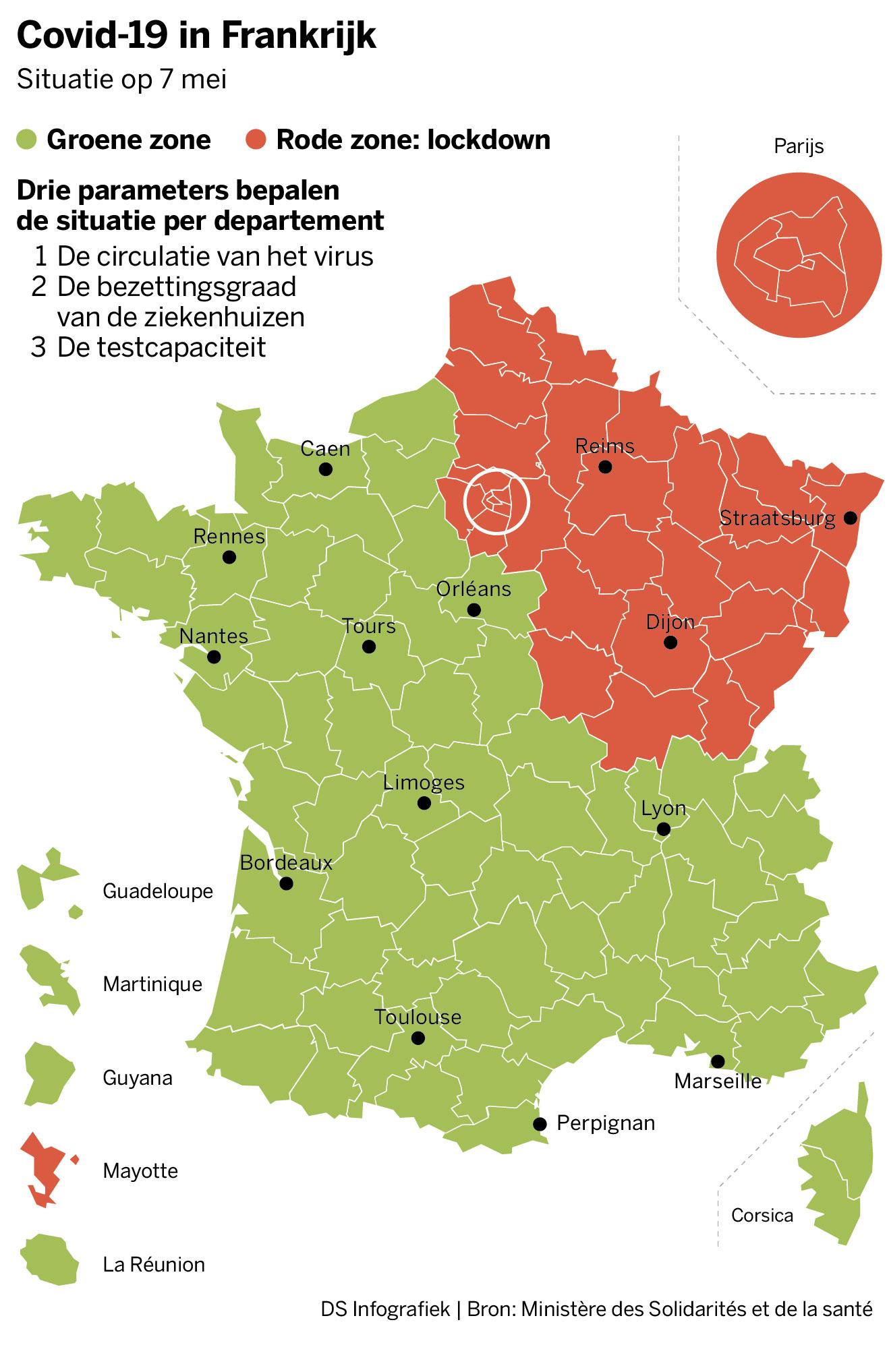 Frankrijk In Rode En Groene Zones Gesplitst Voor Exitstrateg De Standaard Mobile
