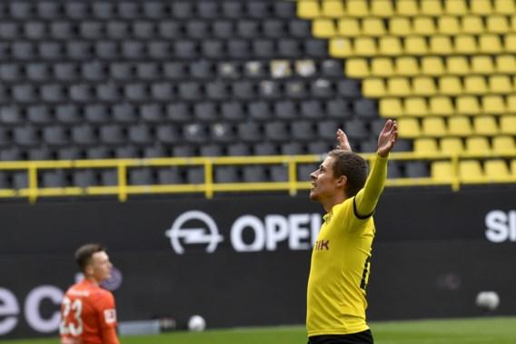 Thorgan Hazard laat zich meteen zien bij herstart van Bundesliga en zet met Borussia Dortmund leider Bayern onder druk