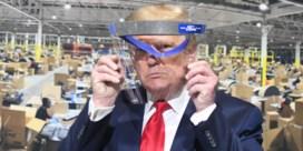 Trump draagt toch masker, maar niet voor de pers