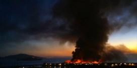 Spectaculaire brand op iconische pier in San Francisco