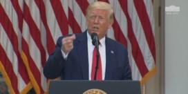 Trump tegen journalist met mondmasker: 'Je wil politiek correct zijn'
