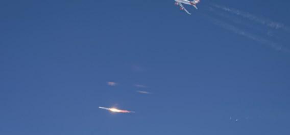 Nieuwe beelden tonen hoe rakettest Virgin Orbit fout ging