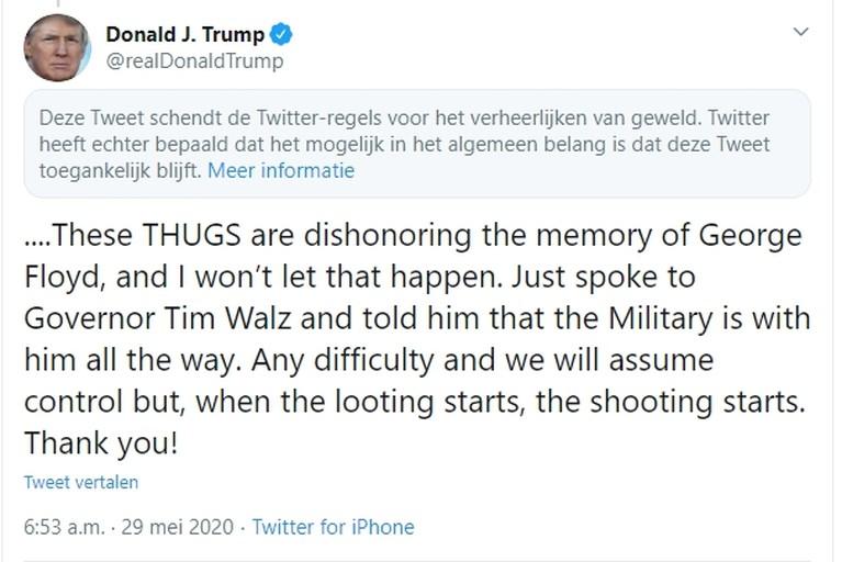 Trump haalt weer uit: 'Twitter doet niets aan leugens van China en Democraten'