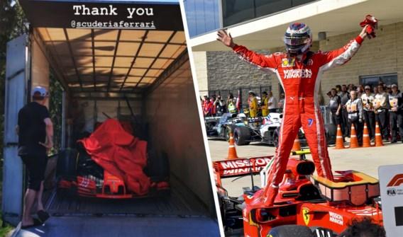 Ferrari schenkt ex-wereldkampioen Kimi Räikkönen de bolide waarmee hij zijn laatste Grand Prix won