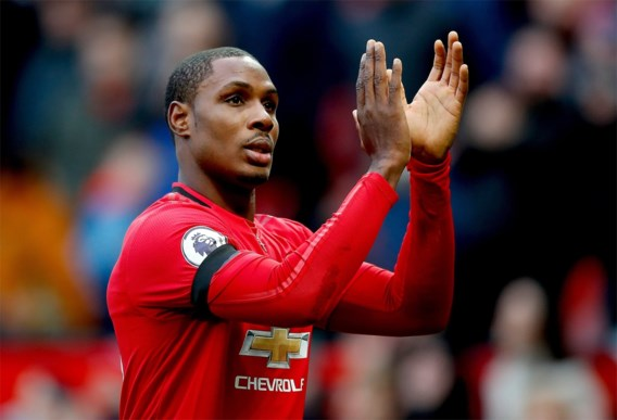 Spits Odion Ighalo blijft bij Manchester United