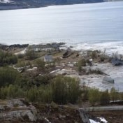 Acht huizen weggespoeld door aardverschuiving in Noorwegen