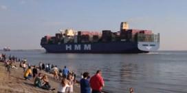 Grootste containerschip ter wereld aangemeerd in Antwerpen