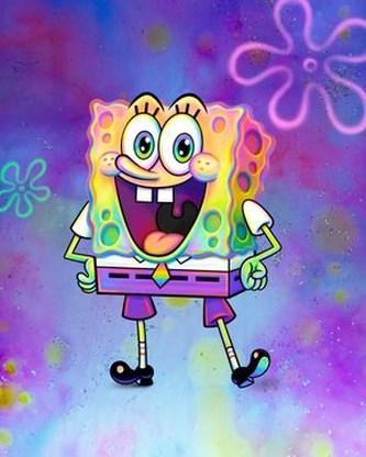 Tekenfilmpersonage Spongebob komt uit de kast