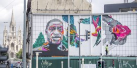Muurschildering George Floyd in Brussel ingehuldigd