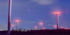 Het licht op windturbines kan nu ook uit